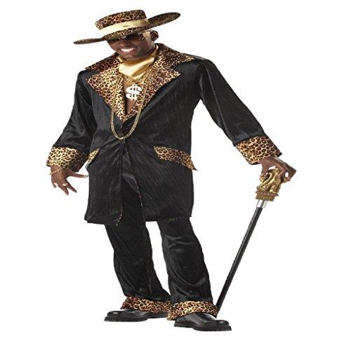 Mac Daddy Kostüm - Pimp Kostüm Übergröße Supa Mac Daddy Karneval Herren Verkleidung XXXL