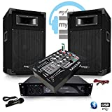 Pack Sono djm500-ax MKII USB Bluetooth Verstärker + HP 500W Tisch-Mix djm150