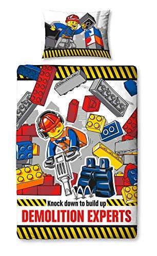 Lego-Ville-de-Dmolition-Panneau-imprim-Housse-de-couette-coton-polyester-multicolore-simple