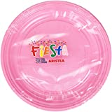 Fiesta-Juego de Platos de Plástico, Color Rosa-50 Unidades
