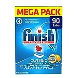 Finish – Classic Geschirrspültabs, Inhalt: 90 Tabs Mega-Pack, Gewicht: 1629 g Lemon