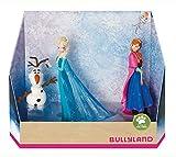 Bullyland- Juego de Figuras de Walt Disney, diseño de Elsa, Anna y Olaf, Color carbón (13446)