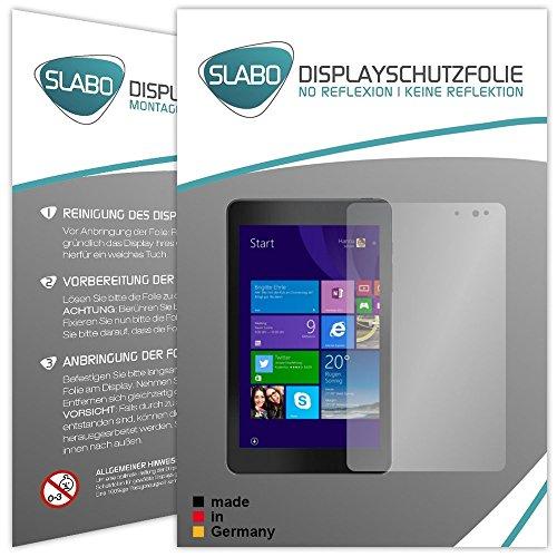 Slabo 2 x Bildschirmschutzfolie Dell Venue 8 Pro Bildschirmschutz Schutzfolie Folie No Reflexion|Keine Reflektion MATT - Entspiegelnd Made IN Germany