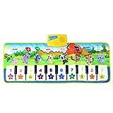 BANDRA Musikmatte Klavier Matte Baby Musical Keyboard Piano Spielteppich Matte Touch Spiel Keyboard Teppich für Kinder (100x42cm)