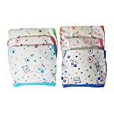 Chinmay Kids Multicolor Medium Size Padded Reusable Traditional Hozri Nappies for 0-6 Months Babies (Set of 6)