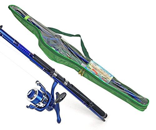 Nerd Clear Hochsee-Rute Pilkrute Angelrute mit Hochsee-Rolle 180cm Wurfgewicht bis 500g Set Pilker Schnur Steckrute Glasfaser 400 Meter 0.40er Angel-Schnur