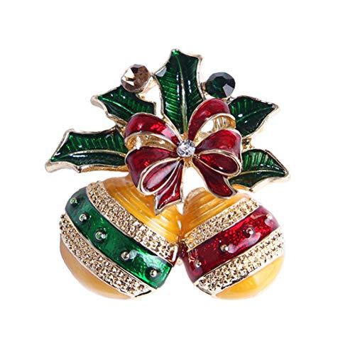 Candy Kostüm Ball - TENDYCOCO Honey Candy Ball Brosche Weihnachten Legierung Strass Brosche Breastpin Revers Pin Schmuck Zubehör Weihnachten Geschenk