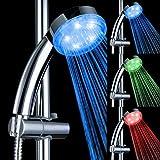 Alcachofa de ducha, de mano luz LED alcachofa de ducha Control de temperatura con 3colores cambiantes para baño