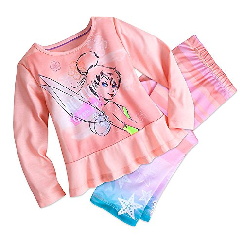 leep Set Pajamas for Girls Size 4 (Tinker Bell-kleider)
