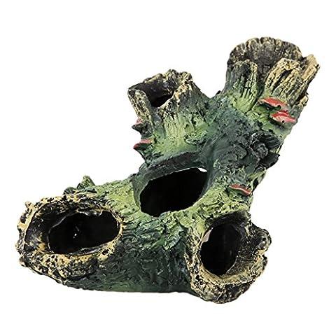 MagiDeal Polyresin Hollow Trunk Tree Log Wood Fish Tank Aquarium Ornament Simulation