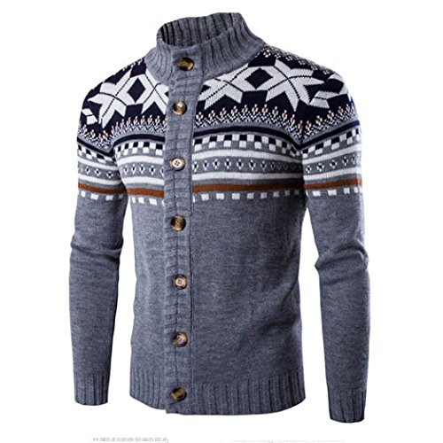 Zolimx Herren Kapuzen Nagel Wind Ansatz Sweatshirt (L, Grau)