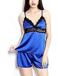 Moobody - Pijama Atractiva de Mujeres Ropa de Dormir Femenina (De Satén,Buena Transpirabilidad)