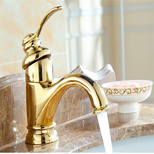 Badezimmer Waschbecken Armatur Wasserhahn Bad Armatur Küchenarmatur Alle Vintage Bronze im Einzel- und Doppelzimmer mit kaltem Leitungswasser, Ein