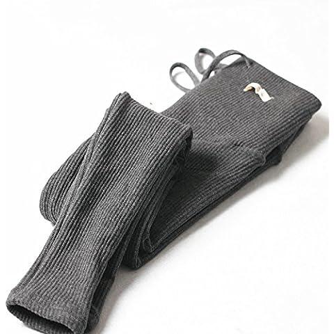 Donne incinte doppio strato Leggings filo cotone taglie gilet ispessimento addominale pantaloni donne incinte , deep grey suede , m