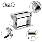 from PAGILO Pagilo (7Stops) for Spaghetti/Pasta and Lasagne Pasta Machine with 2Year Money Back Guarantee | Pasta Maker Machine Pasta Maker