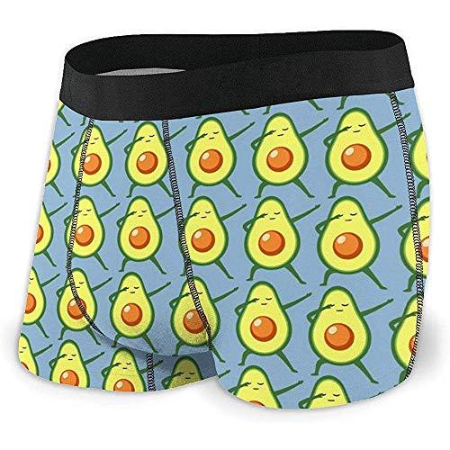 NA Underwear Men 's Boxer Brief Unterhose Dabbing Avocado Men' s Boxer Briefs Saugfähige Bequeme Unterwäsche mit elastischem Bund Größe XL