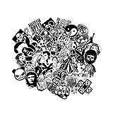 Pegatinas [120 pcs], Modou Negro Graffiti Blanco Pegatinas de vinilo para Laptop Cars Motocicleta Bicicleta Skateboard Equipaje Bumpers Casco Ventana Celular notebook Guitar Skateboard Snowboard Vinilos decorativos