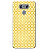 Fancy A Snuggle giallo senape Repeating pattern cover/custodia rigida per cellulari LG, PLASTICA, Repeat Small & Large Flowers, LG G6 (H870)