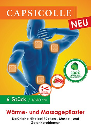 Capsicolle 6er Pack Wärmepflaster & Massagepflaster 12x18 cm