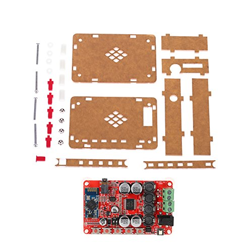 KKmoon TDA7492P 2*25W Audio Receiver Amplifier Board Module with AUX Interface + Acrylic DIY Case Kit Cover Audio-interface-kit