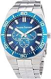 Bruno Banani Herren-Armbanduhr XL Brahma Analog Quarz Edelstahl BR22002