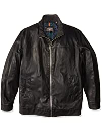 Dockers Men's Tall Size Lamb Touch Faux Leather Stand Collar Jacket