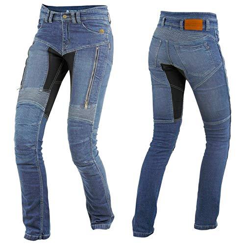 Trilobite Parado Dupont Kevlar Jeans Dames - Blau // Motorradjeans // inkl. Protektoren - Größe Inch 32