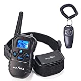 WOLFWILL Pet Dog Training Collar,300 Yards Rechargeable & Rainproof with Beep/Vibration Collar