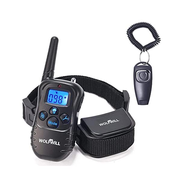 WOLFWILL-Pet-Dog-Training-Collar300-Yards-Rechargeable-Rainproof-with-BeepVibration-Collar-for-Training-Your-Dog