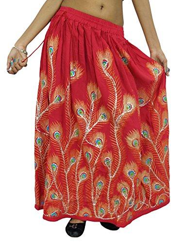 Sommer-Abnutzungs-Frauen-Kleidungs-böhmisches Kleid-Rayon-Maxi-Rock-Abnutzung (Länge Voller Hippie Wickelrock)