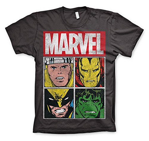 Marvel Comics - The Avengers Herren T-Shirt - Characters (Grau) ()