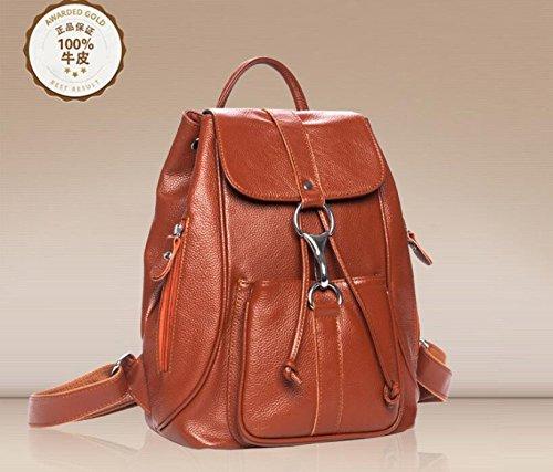 Damen Leder Schulter Baodan Schulter Damentaschen Brown