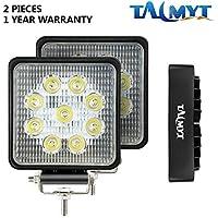 27W LED luces de trabajo 12V-24V focos de led 6500K luces de conducción luz de niebla Off Road conducción de luz LED (27W 2PCS)