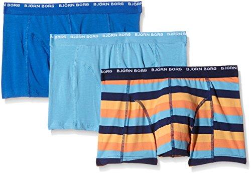 Bjorn Borg Men's Bb Basic Stripe Boxer Shorts, Medieval Blue, X-Large