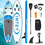 INTEY Tabla Paddle Surf Hinchable 305×76×15cm, Sup Paddle Remo Ajustable,Tabla Stand Up Paddle Board ,Bomba de...