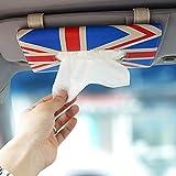 LOCEN Car Sun Visor Tissue Box Handy Paper Napkin Holder Clip - the UK Flag