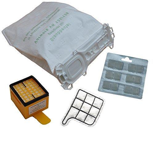 12 Staubsaugerbeutel 5 lagig Premium Microvlies Allergiker geeignet 1 Hygienefilter 1 Motorschutzfilter 12 x Duft passend für Vorwerk Kobold 135 136 135SC VK135 VK136 FP135 FP136 FP135 SC