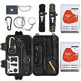 Survival Kit 16-in-1 Notfall Survival Gear Multifunktionales Zubehör Survival Werkzeug für Camping Outdoor Sport Reisen Wandern