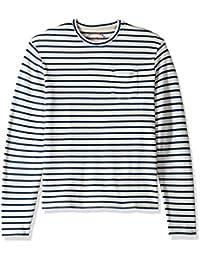 Lucky Brand Men's Casual Long Sleeve Stripe Raglan Crew Neck Shirt