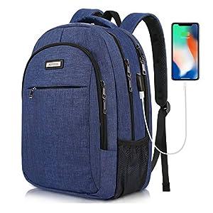 AOTEKIN Mochila de Portátil Viaje Antirrobo Mujer Hombre Mochilas para Ordenador Laptop 15,6 con Puerto de Carga USB, Impermeable Mochila Backpack para Escolar Universitarias Negocio