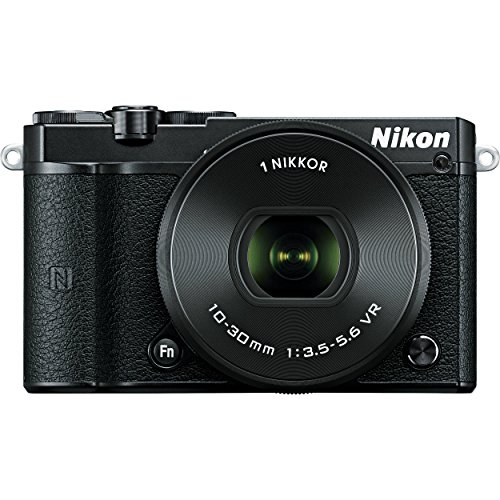 Nikon 1 J5 20.8MP Digital SLR Camera (Black) with 10-30mm VR Lens