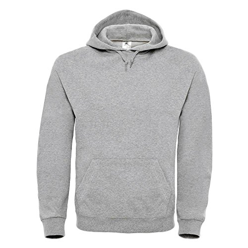 B&C - Kapuzen-Sweatshirt 'ID.003' Heather Grey