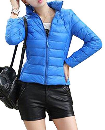 Yeesea Donna Giacche Corto Piumino Cappotto Ultraleggeri Trapuntato Inverno Giacca Blu