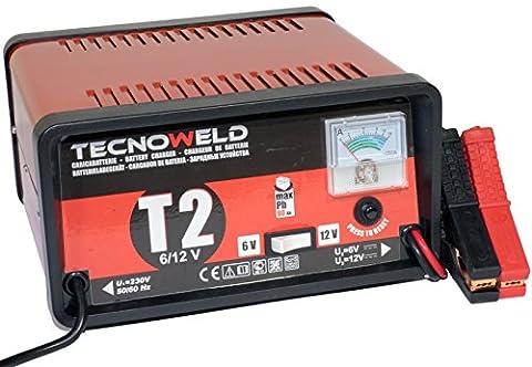 PROWELTEK- Chargeur de Batterie 6/12V - Auto Moto - Charge batterie de15 à 80 Ah