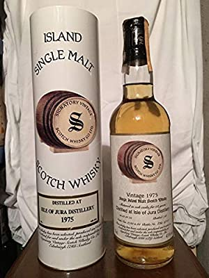 Isle of Jura 1975 Signatory Vintage 22yo Limited and Numbered with case (tube) 70cl