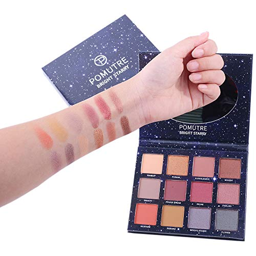 POMUTRE Makeup Palette Renaissance Eyeshadow Palette Pink Orange Heat Red Matte Eye Shadows...