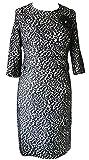 Gerry Weber Kleid Gr. 44 Jacquard Etuikleid Damenkleid Abendkleid Coctailkleid