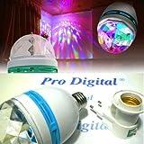 LAMPADA LED RGB + Portalampade a Presa con Interruttore - OTTIMO EFFETTO DISCO.