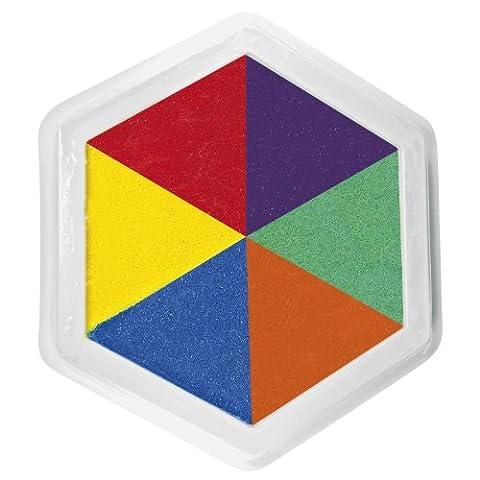Eduplay Riesen-Stempelkissen bunt Multicolor 6-farbig für Kinder-Stempel