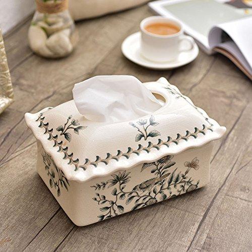 STOWNN Multifuncional De Cerámica Europea Caja Para Pañuelos Caja Caja Home Furnishing Decoración Decoración De La Mesa,Una Sala (Mesas De Sala)